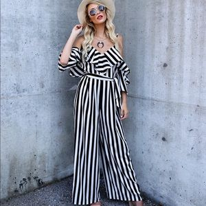 Dance with me striped jumpsuit from VICI